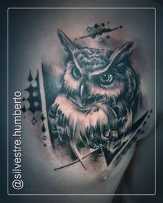 #tattoo #tattoos #blackandgrey #blackandgreytattoo #owl #mocho #owltattoo #brush #inked #like4like #instadaily #instagram #inkstagram #bestoftheday #tattoomag #tattoomagazine #tattooart #art #creative #amazingink #tattoolife #tatouage #tatuagem #tattooartist #humbertosilvestre