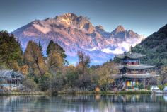 Lijiang, China. Taken at Black Dragon Pool with Jade Dragon Snow Mountain at the background.      http://500px.com/photo/10825951