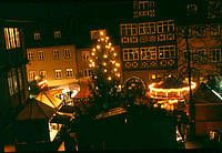 christmas market in schwaebisch hall  27.11. until 21.12.2014 Christmas Market at the marketplace  Over twenty fire-adorned wooden cabins and booths surround the landmark of the marketplace and the St. Michael church and bring back memories of childhood