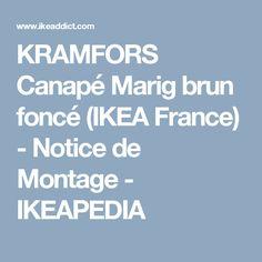 KRAMFORS Canapé Marig brun foncé (IKEA France) - Notice de Montage - IKEAPEDIA