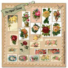 Victorian Roses clip art images.  www.TheClipartCorner.com #clipart #vintageflorals #vintageroses #cardmaking #papercrafts #digitalscrapbooking #printables