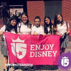 Colegio Rosario con el #promoTeam de #enjoy15!!Cada vez más cerca de tu sueño: #Disney !!!! Enjoy 15 Enjoy Transatlántica