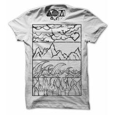 Elemental T-Shirt by .Free Clothing Co.-the four classic elements Earth, Water, Air, and Fire, hand drawn and then printed. http://www.thefancy.com/things/292230147099071157/Elemental-Tee-by-.Free-Clothing-Co.
