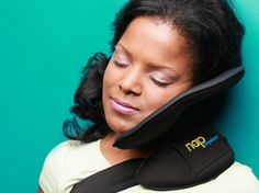It's called the Nap Anywhere, and the doctor who invented it promises it's far more comfortable — and easier to pack — than the standard inflatable U-shaped travel pillow you know well.