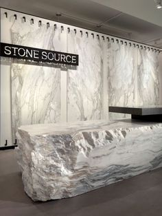 #Office receptionist desk for Stone Source- cool stone desk! #workplace:
