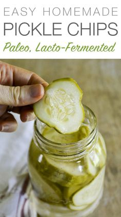 These easy Lacto-Fermented Pickle Chips are a favorite snack and side dish at my house. They're packed with delicious nutrition, so I don't mind.
