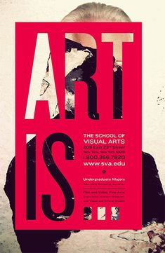 The school of visual arts poster simple poster design, poster design layout, typography design Foto Poster, Poster Art, Typography Poster, Art Posters, Art Exhibition Posters, Exhibition Ideas, Bold Typography, Gig Poster, Type Posters