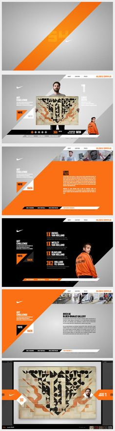 Nike website http://www.behance.net/gallery/Nike-Bloed-Oranje/519404 #website #nike