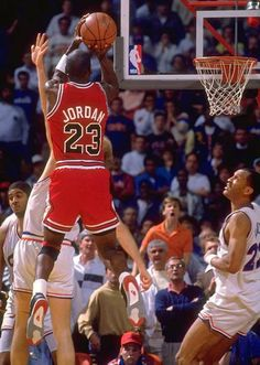 I watched this game live. What a great clutch shot over Craig Ehlo of the Cavaliers during the playoffs.