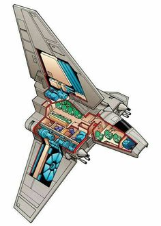 Cut away details of Lamda class shuttle.