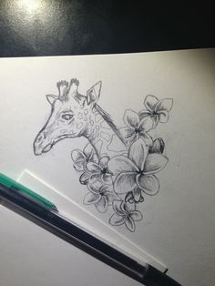 Giraffe tattoo design #2