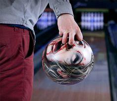 Zombie head bowling balls!