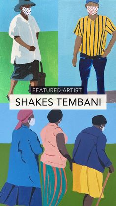 Shakes Tembani, African figurative art available online University Of Cape Town, Hope Art, South African Artists, Mosaic Designs, Art Festival, Community Art, Fabric Painting, Figurative Art, Art Studios