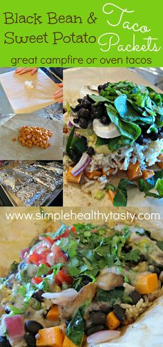 Simple. Healthy. Tasty    Black Bean and Sweet Potato Taco Packets! YUM!!! And other healthy recipes!