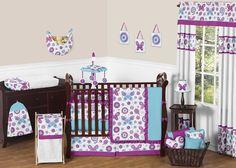 Spring Garden 9 Piece Crib Bedding Set