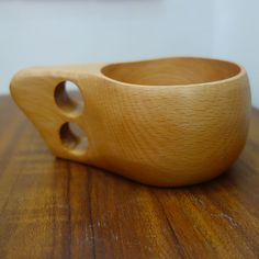 Handmade Kuksa Wooden Coffee Cup //Price: $12.99 & FREE Shipping // #gifts