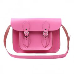 All About Tom Small Pink Leather Satchel
