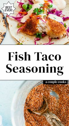 Mexican Fish Tacos, Slaw For Fish Tacos, Cod Fish Tacos, Fish Seasoning Recipe, Taco Seasoning, Sauce Recipes, Seafood Recipes, Mexican Food Recipes, Fish Taco Marinade