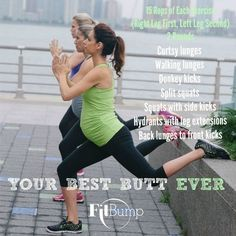 Your Best Butt Workout by FitBump. #prenatalexercise #prenatalfitness #prenatalworkout