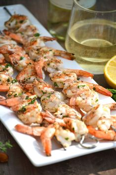 Grilled Garlic Shrimp with Ribera y Rueda Wine from What The Fork Food ...