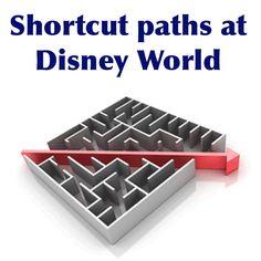 Time-saving shortcut paths at Disney World