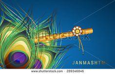 Happy Janmasthami background. - stock photo