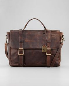 John A Frye - Logan Antiqued Flap Briefcase.  I need this badly.