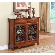 Special Offers - Powell Light Cherry 2-Door 2-Drawer Scroll Console - In stock & Free Shipping. You can save more money! Check It (May 16 2016 at 10:22AM) >> http://kitchenislandusa.net/powell-light-cherry-2-door-2-drawer-scroll-console/