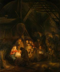 Rembrandt - The adoration of the shepherds