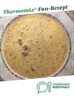 Paprika-Lauch-Käse-Suppe mit Hackfleisch von no_cook. Ein Thermomix ® Rezept aus der Kategorie Suppen auf www.rezeptwelt.de, der Thermomix ® Community.