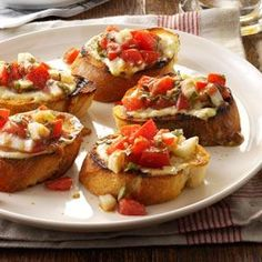 Bruschetta from the Grill Recipe from Taste of Home -- shared by Mary Nafis, Chino, California