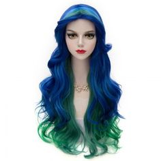 Vogue Multi-Colored Synthetic Lolita Cosplay Towheaded Wavy Long Centre Parting Capless Women's Wig (OMBRE 1211#) in Cosplay Wigs | DressLily.com