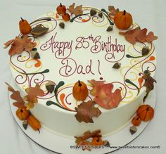 Another Autumn birthday cake for that special man from Sweet Sisters