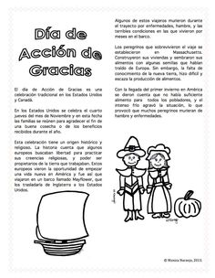 Dia de Accion de Gracias /Thanksgiving Day in Spanish  http://www.teacherspayteachers.com/Product/Spanish-Dia-de-Accion-de-Gracias-878202