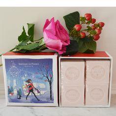 4-savons-cubes-rose-paris Parfum Rose, France, Cubes, Paris, Soaps, Casket, Candle, Marseille, Gift Ideas