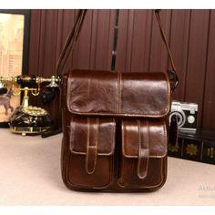 Bullcaptain 2017 New Arrival Men's Shoulder Bag Satchel Genuine Cowhide Leather Messenger Bags For Men Rugged Portfolio