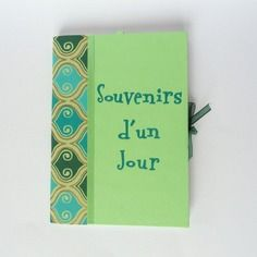 Carnet / livre d'or (baptême, communion, anniversaire de mariage...) pages blanches, couverture verte