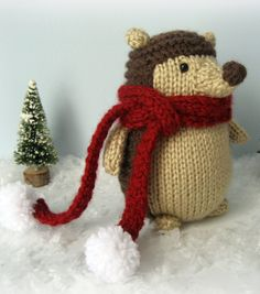 Free Knitting Pattern for Hedgehog Toy