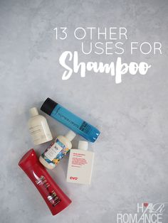 13 other uses for shampoo