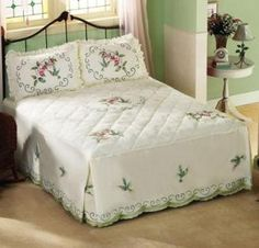 #17034 Floral Hummingbird Ruffle Pillow Shams - Set Of 2 by sensationaltreasures