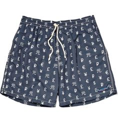 Limoland Currency-Print Swim Shorts