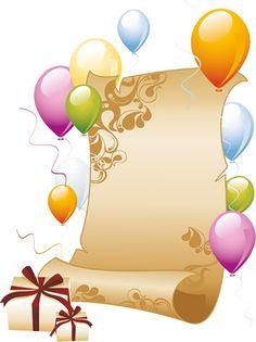 cadre vide - Page 2 Happy Birthday 23, Happy Birthday Celebration, Birthday Greetings, Birthday Wishes, Illustration Mignonne, Birthday Clipart, Birthday Frames, Balloon Gift, Paper Ribbon