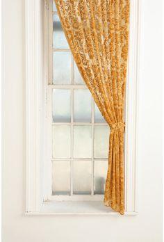 damask velvet curtain