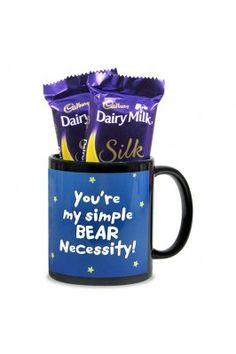 Get this Teddy Mug & Chocolates Hamper frpm Archies to gift your dear friend. #gifthampersonline #onlinegiftsetsforfriendshipday #friendshipdaygiftsetsforfriendshipday #gifthampers #chocolategifthampers Shop here- https://trendybharat.com/trendy-pitara/style-box/archies-gallery/teddy-mug-chocolates-hamper-val16-192