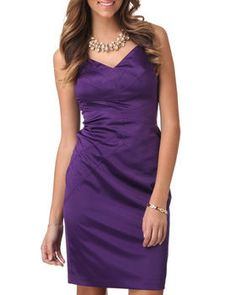 Sleeveless Fitted Satin Sheath by DJP OUTLET @ DrJays.com