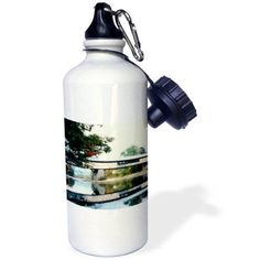 3dRose Covered Bridge And Foliage In The Fall In Vermont, Sports Water Bottle, 21oz