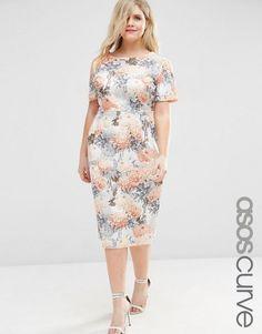 ASOS Curve   ASOS CURVE Occasion Floral Wiggle Dress