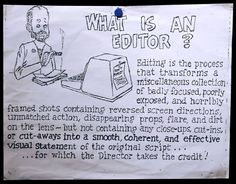 What Is An Editor? (this use to be on the wall in one of the many edit suites at NBC (30 Rock) where I worked...truth in this for sure!! #EDITOR #NBC #TV #TELEVISION #AVID #videoeditor #producer #cinema