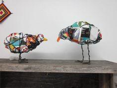 Mooie birds van gerecycled materiaal