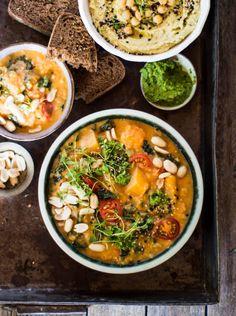 African Butternut Squash, Lentil & Peanut #Stew vegan & gluten free). #veganrecipes